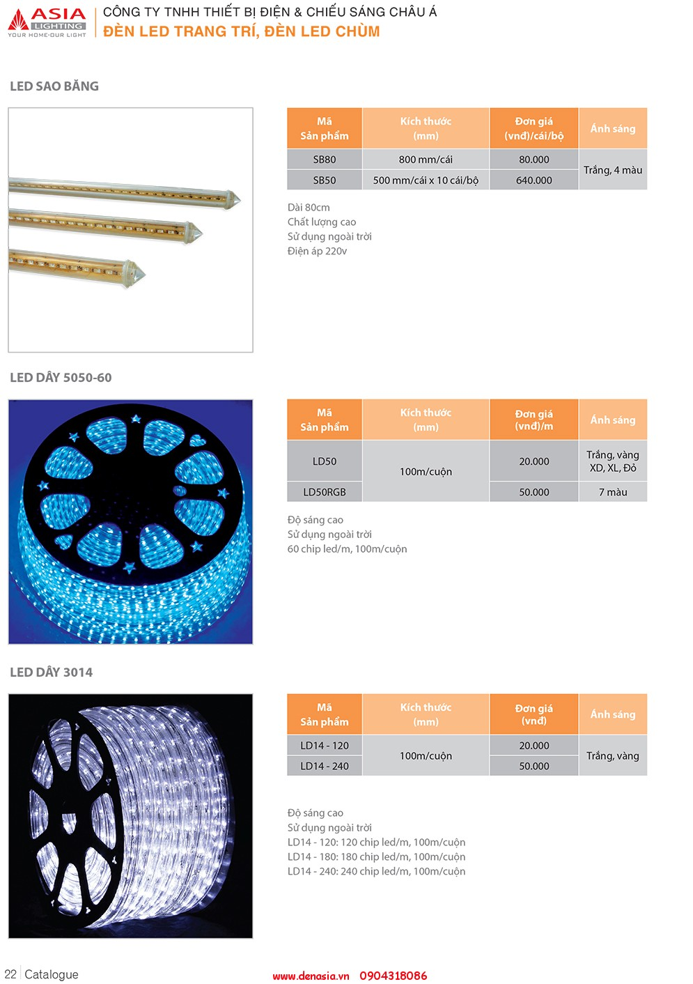 CATALOG - ĐÈN LED ASIA-22