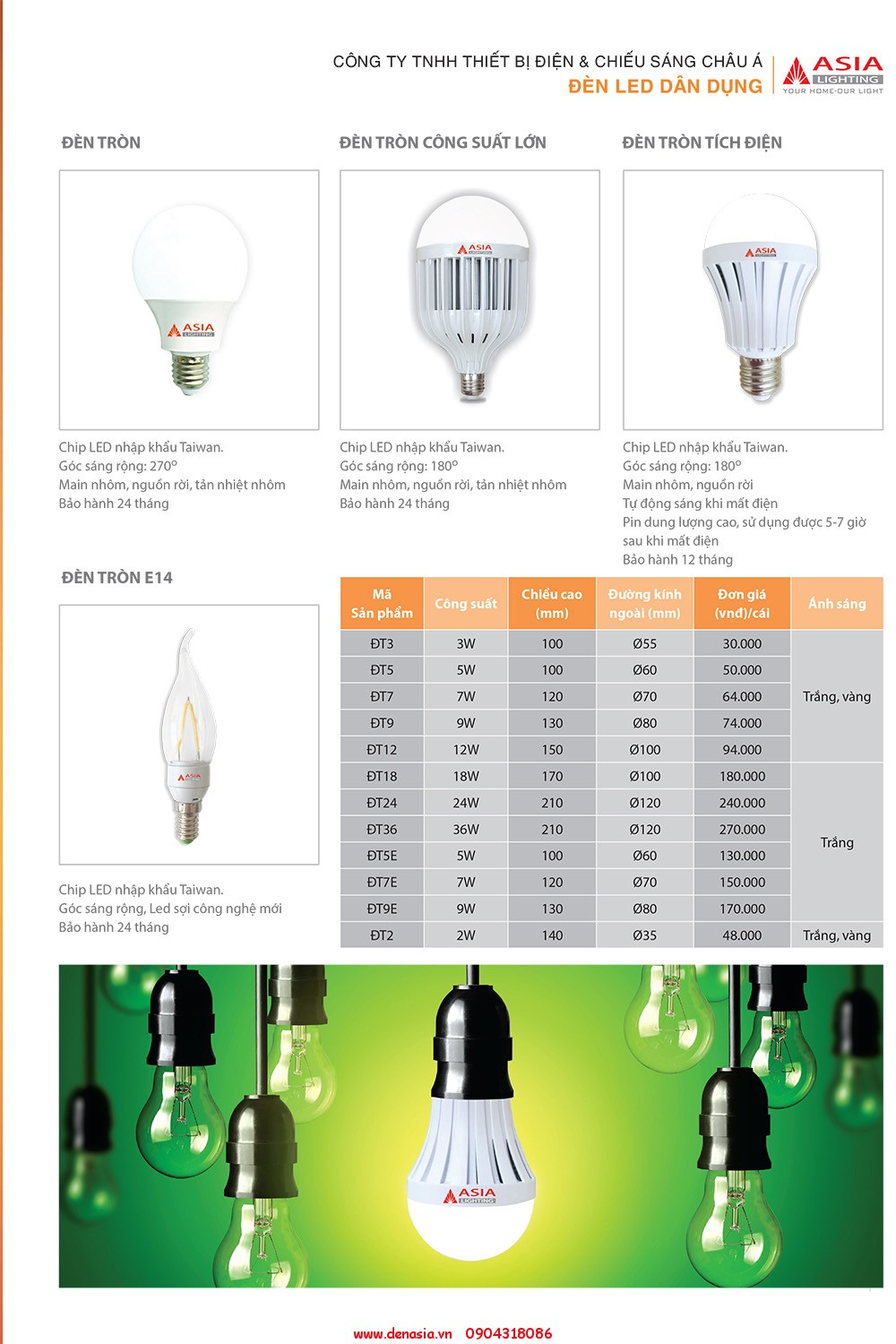 CATALOG - ĐÈN LED ASIA-5