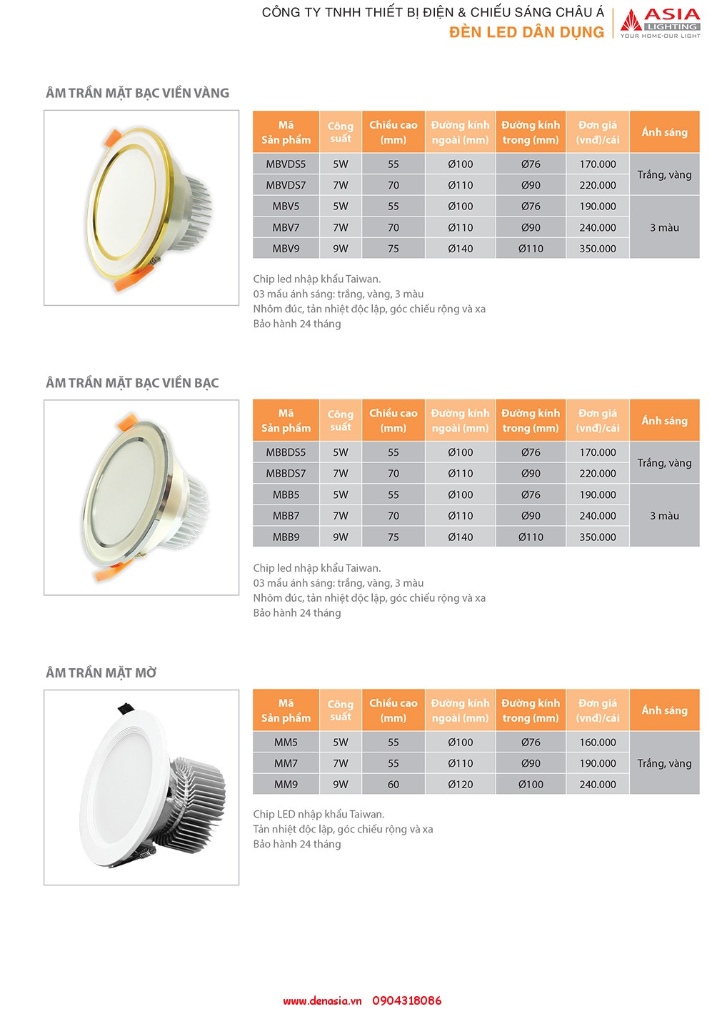CATALOG - ĐÈN LED ASIA-11