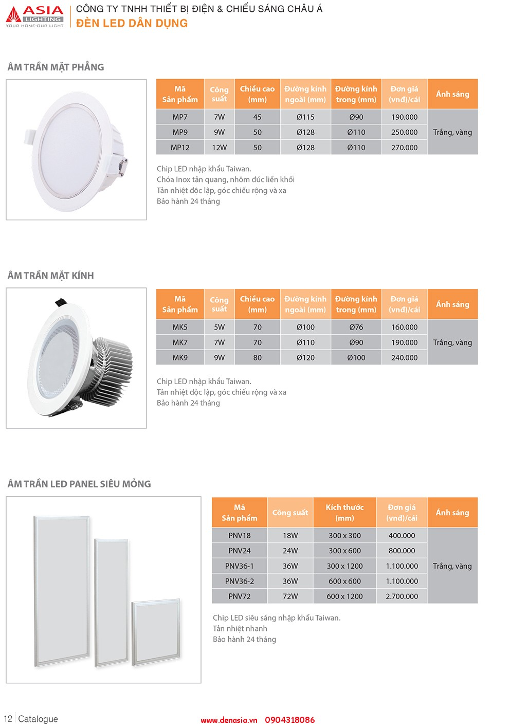 CATALOG - ĐÈN LED ASIA-12