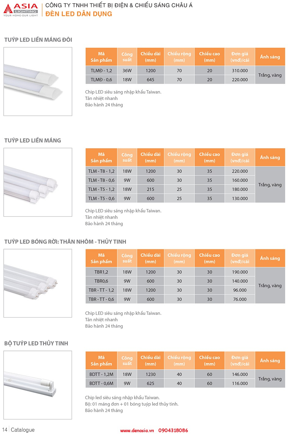 CATALOG - ĐÈN LED ASIA-14