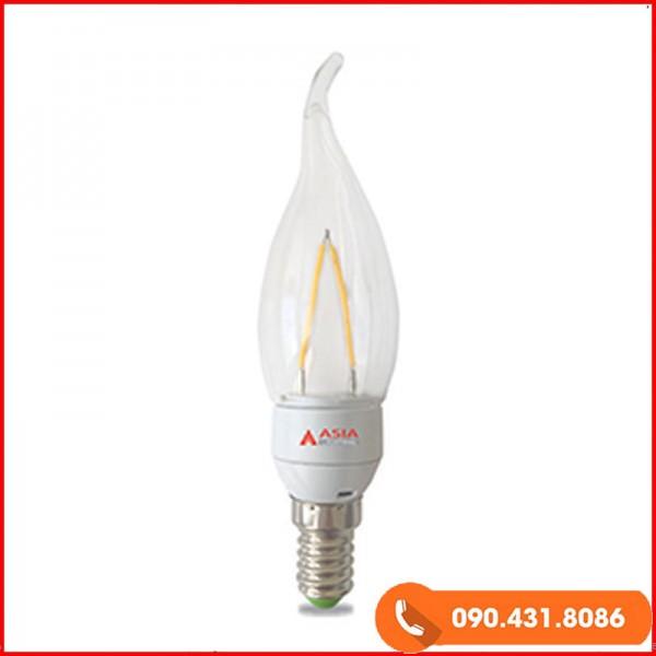 Đèn Led nến thủy tinh 2w đui E14 ASIA