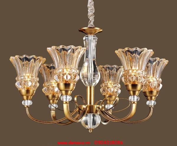 Đèn Led nến thủy tinh 2w đui E14 ASIA trang trí đèn chùm