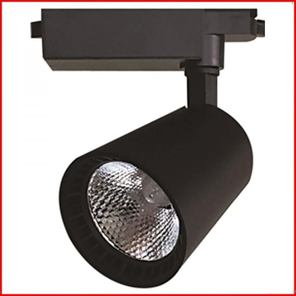 Đèn LED rọi ray vỏ đen thấu kính