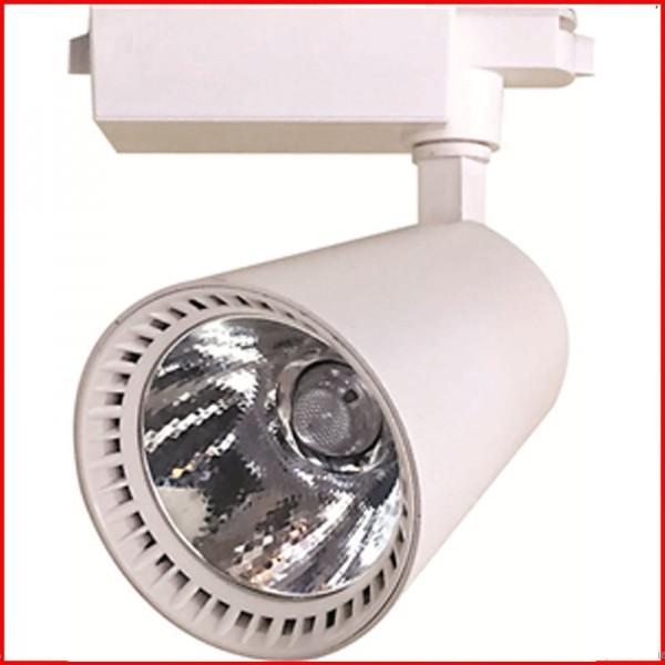 Đèn LED rọi ray vỏ trắng thấu kính