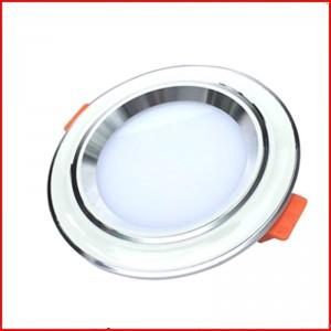 Đèn LED âm trần downlight 7w- mặt lõm viền trắng