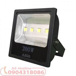 Đèn Pha LED 200W cao cấp vỏ đen ASIA