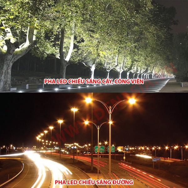 Đèn pha LED cao cấp chiếu sáng đường, công viên cây xanh